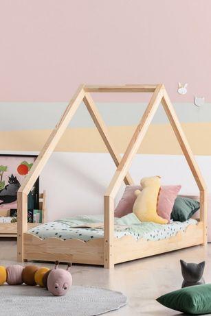 Łóżko Dziecięcę Domek drewniany