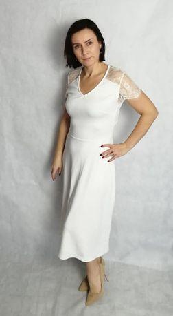 Anna Field sukienka koronkowa cream roy. 38 nowa z metką