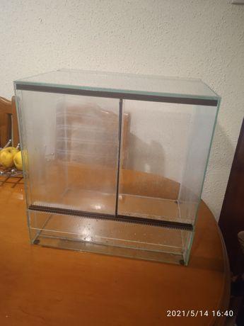 Terrarium szklane 40x40x30 roczne, dla jaszczurki, kameleona, węża