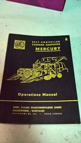 Manual Ceifeira CLAAS Mercury, anos 60
