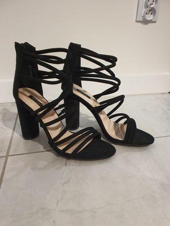 Czarne sandałki rozmiar 40