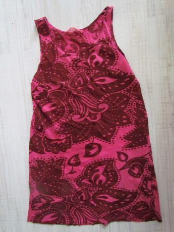 sukienka letnia 100% bawełna karminowa różowa rozciągliwa 40 L