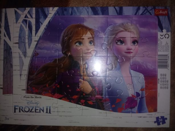 Puzzle frozen II oraz cars