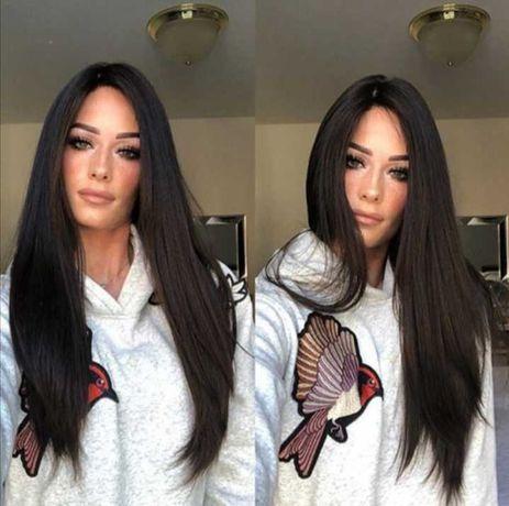 Парик длинные, шелковистые прямые, термостойкие волосы