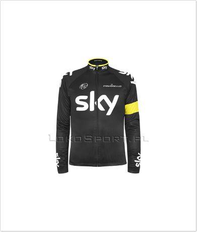 Ocieplana bluza kolarska SKY Żółta, rozmiary od S do 4XL