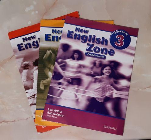 Oddam trzy częsci New English Zone 1,2,3 Workbook