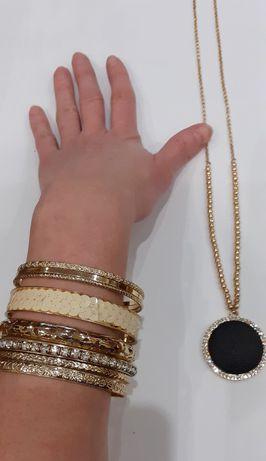 Kpl. Biżuterii Pozłacanej