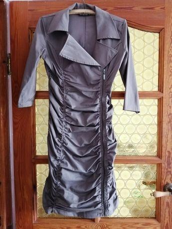 Śliczna beżowa sukienka roz 40
