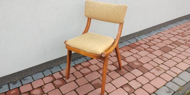 Krzesła skoczek PRL retro drewniane gięte