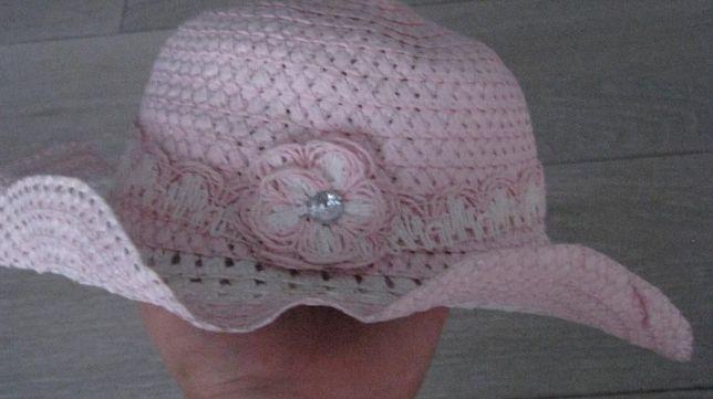 różowy kapelusz średnica 18 cm