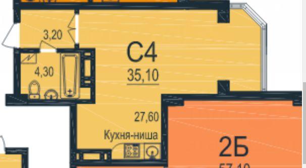 Продается однокомнатная квартира на Паустовского в новом доме.