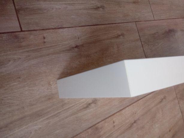 półka samowisząca na ściane biały lakier