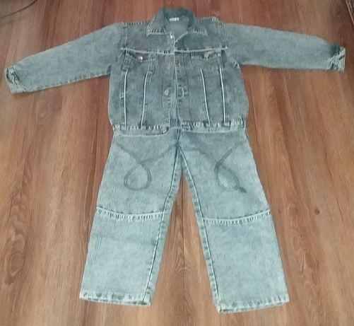 Детский джинсовый костюм (р.4)