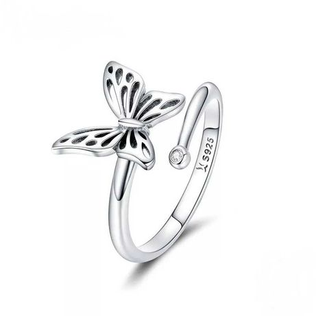 Pierścionek srebrny 925 Motyl 3D na prezent do Pandora Apart