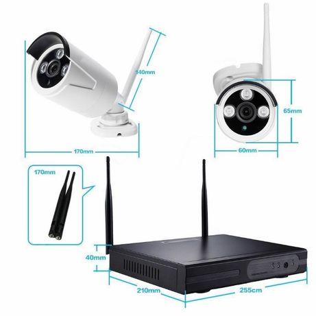 sistema 4 cameras wifi HD 960p disco 4tb video vigilancia Android Ios
