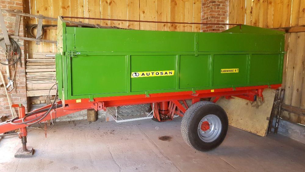 Przyczepa rolnicza jednoosiowa, wywrotka, 4 tony Linów - image 1