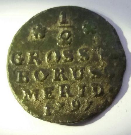 **P Fryderyk wilhelm Prusy 1/2 Groschen KM# C362.1 1797 B półgrosz