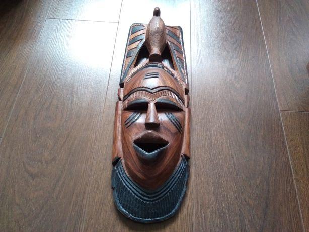 Маска деревянная, украшение для интерьера