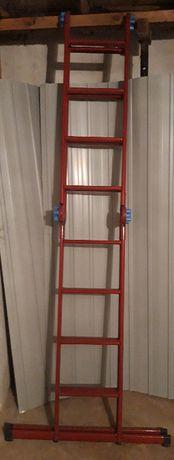 Лестница - стремянка 4*4, высота 4,8 м, вес 20 кг.