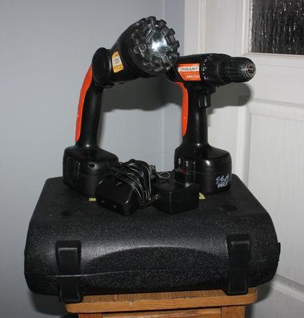 Zestaw narzędziowy - wkrętarka + lampa Pansam