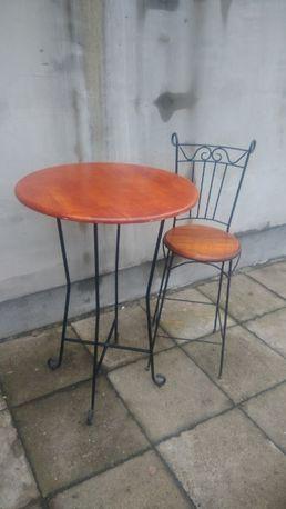 Stół kawowy , kawiarniany , krzesło hoker