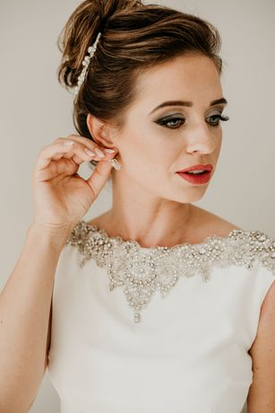 ORYGINALNA suknia ślubna Botega VIOLA PIEKUT 34/36 + GRATIS ozdoba