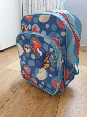 plecaczek dziecięcy, walizka na kółkach z rybkami, niebieski