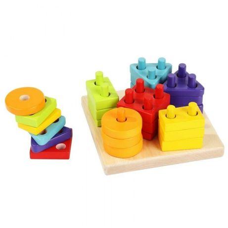 Деревянная игрушка Cubika Сортер Геометрические фигуры (24 деталей)