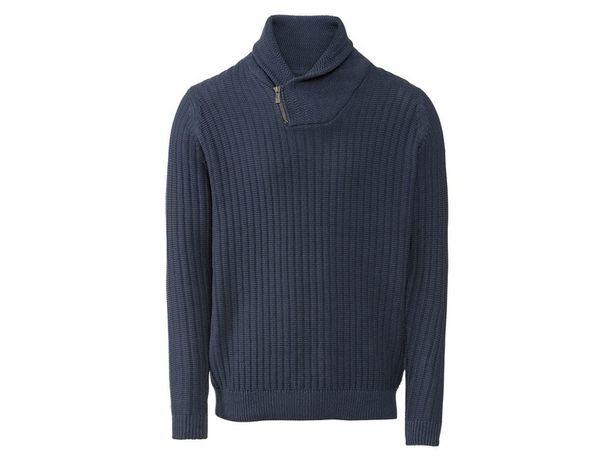 Sweter męski ze stójką\ turtle, v neck\ wysoki kołnierz Rozm. L