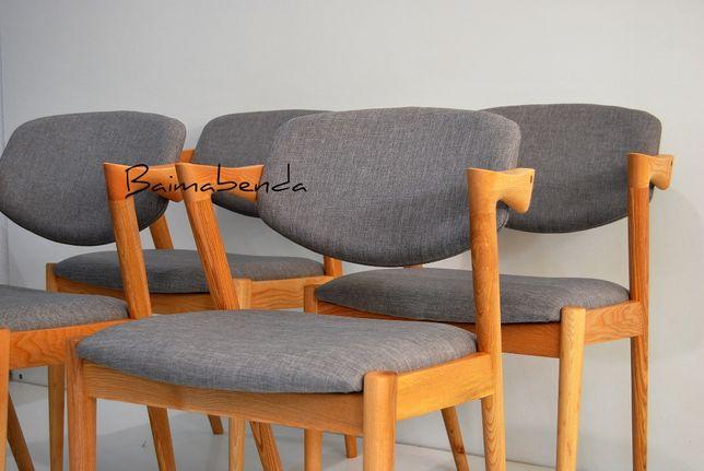 Conjunto de 4 cadeiras Kai Kristiansen mod. 42 Estilo nórdico Vintage