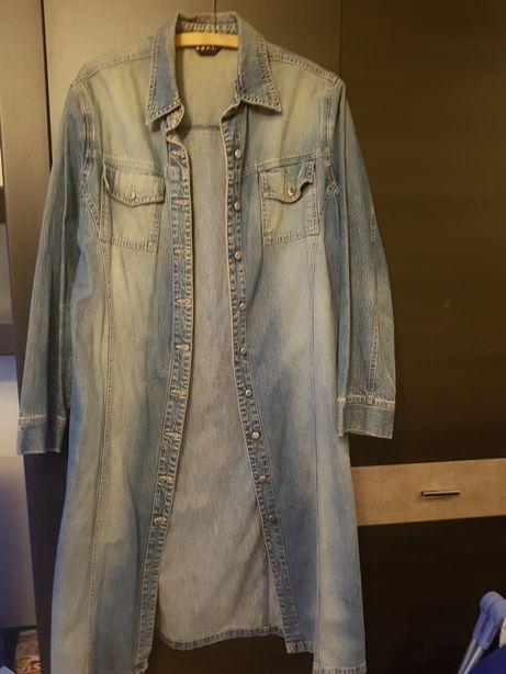 Jeansowe Sukienka -płaszczyk