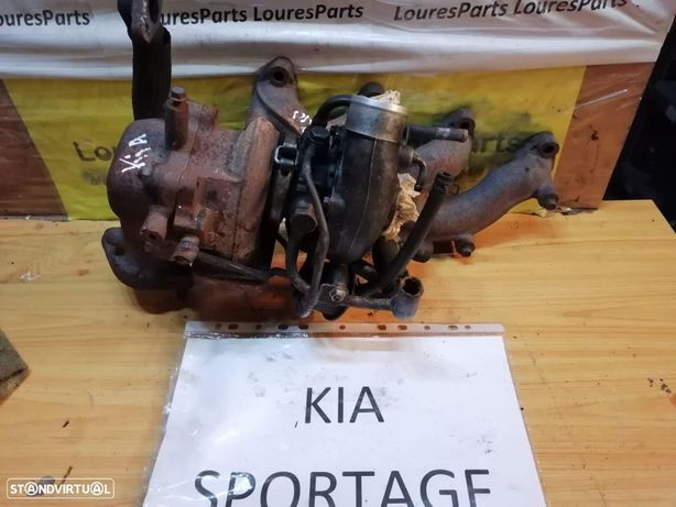 Turbo e coletor Kia Sportage 2.0 turbo diesel