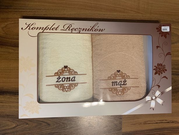 Komplet ręczników ślub mąż żona prezent