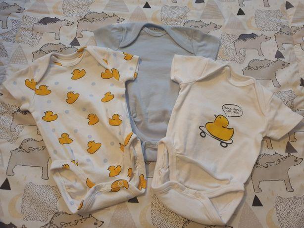 Body niemowlęce, 3-pak, r.56