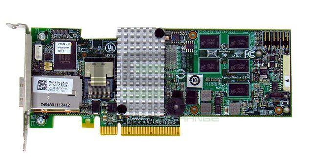 RAID контроллер SAS Dell 9280-4I4E chia SATA.Новый SFF-8088 8087