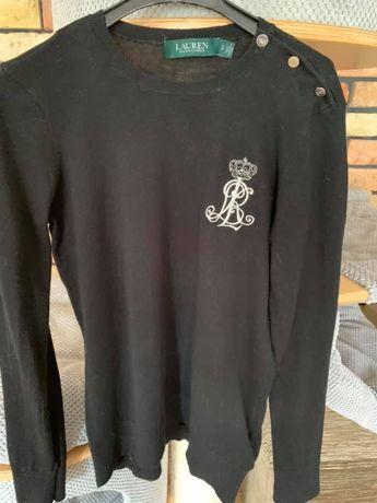 Czarny sweter Ralph Lauren logo xs/s
