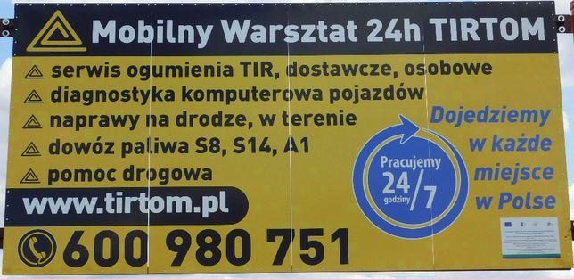 Mobilny Serwis TIR BUS TIRTOM Sieradz, Wieluń, Złoczew, Kalisz, Łask