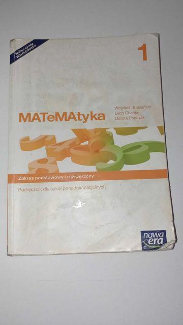 Podręcznik MATeMAtyka 1 zakres podstawowy i rozszerzony Nowa Era