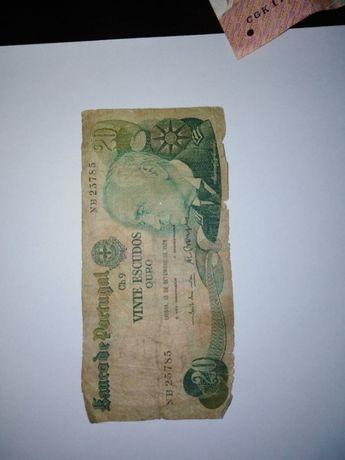 Nota 20 escudos 1978