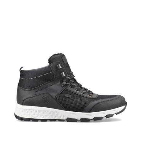 Оригінальні чорні чоловічі черевики rieker (f6743/01)