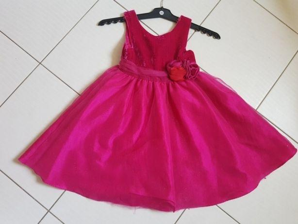 Sukienka wizytowa tiulowa h&m rozmiar 122 super stan