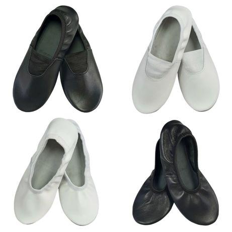 Чешки шкіряні, балетки кожаные белые и чёрные