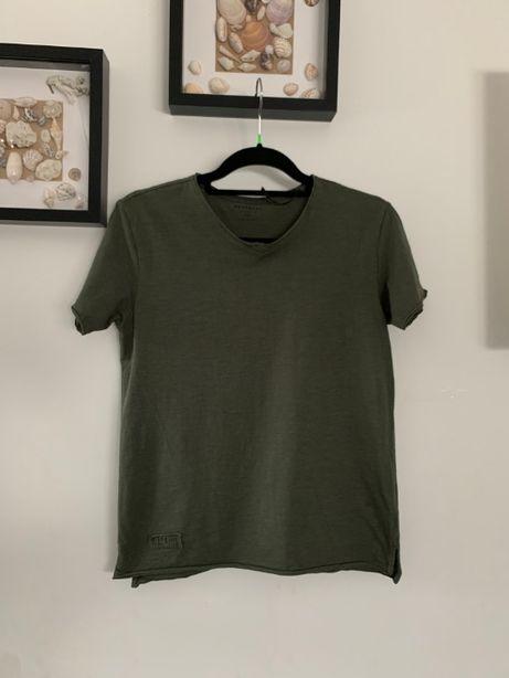 r. 152 cm / RESERVED bluzka koszulka na krótki rękaw KHAKI