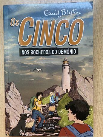 """Livro """"Os cinco nos rochedos do demónio"""" - Enid Blyton"""