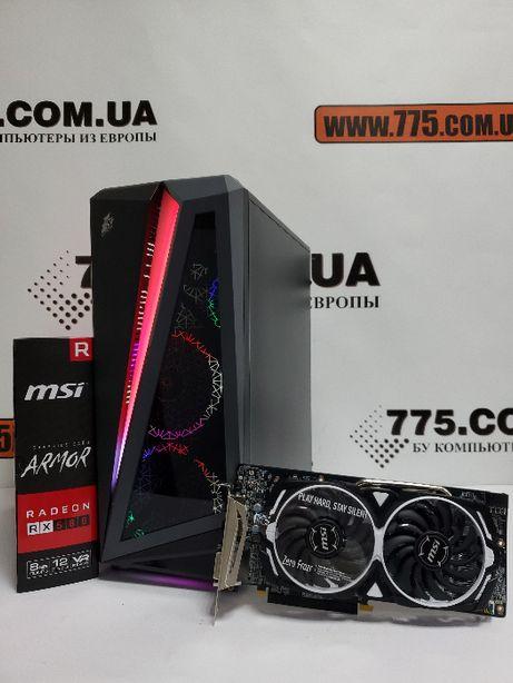 Игровой компьютер, Intel Core i5-4570, 8GB RAM, SSD+HDD, RX 580 8GB