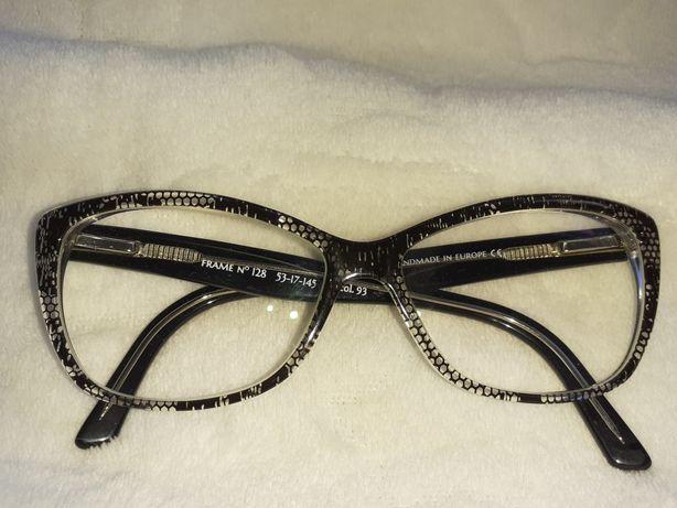 Okulary damskie nowe grafitowe P +2,00 L +0,75