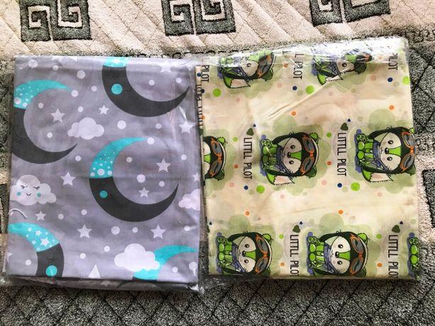 Детское постельное белье 3 в 1 бязь 100% хлопок, новое.