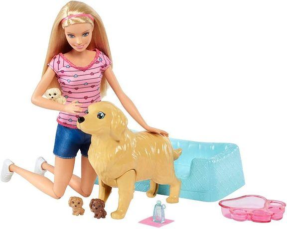 ОРИГИНАЛ! Кукла Барби и собака с новорожденными щенками / Barbie Newbo