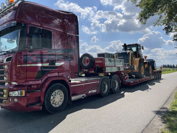 Transport niskopodwoziowy maszyn budowlanych, rolniczych,  .