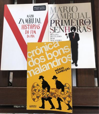 Livros Mario Zambujal Historias Fim da Rua Bons Malandros Senhoras